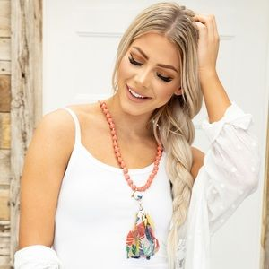 New! Plunder Mariah tassel necklace